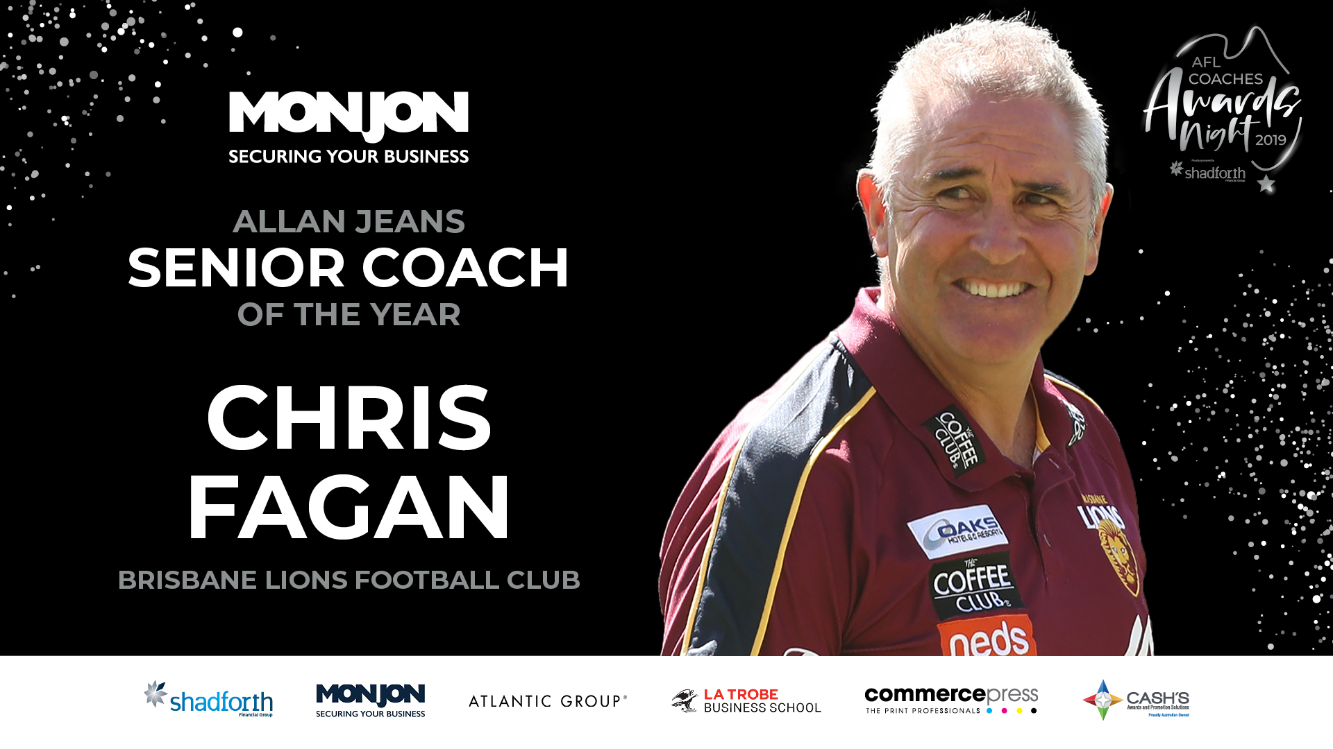 Monjon Allan Jeans Senior Coach of the Year